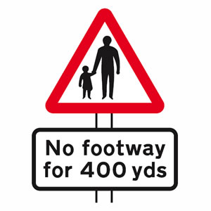Pedestrians in road sign