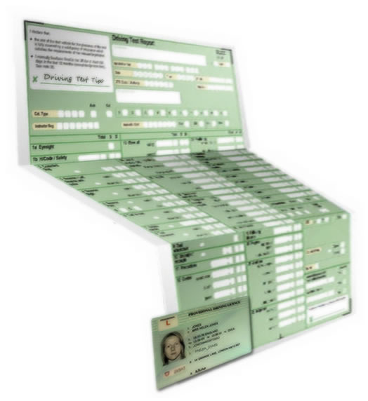 Paper Part Driving Licence my Driving Licence Paper
