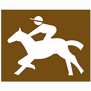 Race course road sign symbol