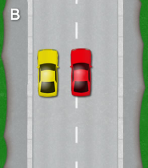 Reverse parallel park: Diagram B