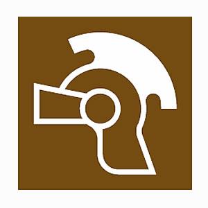 Roman remains tourist information symbol