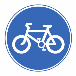 Route for pedal cycles only road sign