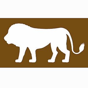 Safari park tourist attraction symbol