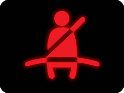 Seat belt dashboard light