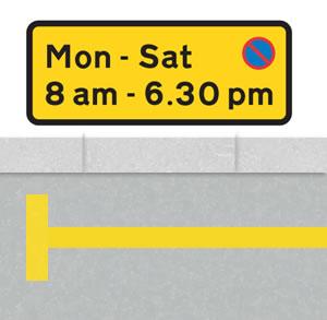 Single yellow lines