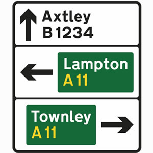 Directional stack road signs