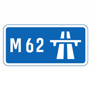 Start of motorway sign