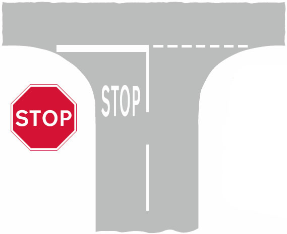 Stop line road markings