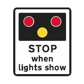 Stop when lights show sign
