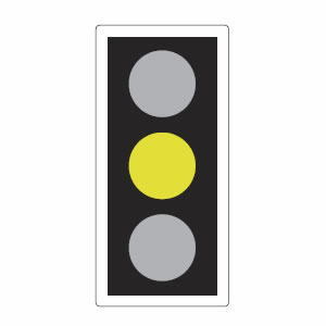 Traffic lights amber
