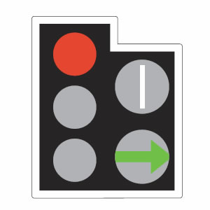 Traffic lights filter arrow