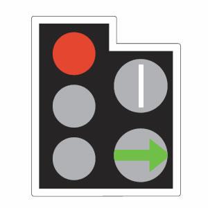 Traffic lights filter arrow