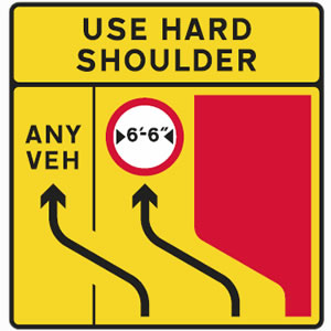 Use hard shoulder sign