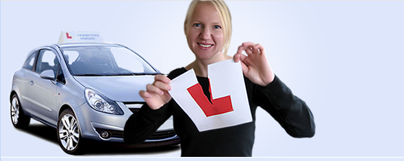 Woman passing driving test