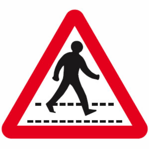 Pelican Crossing Sign