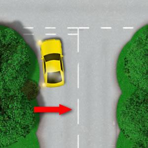 Hazard warning road line
