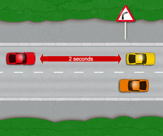 Safe Car Distance When Driving
