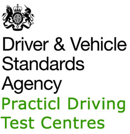 DVSA sign along with test centre name