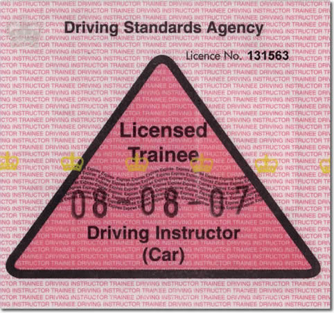 Trainee Driving Instructor Licence (PDI)