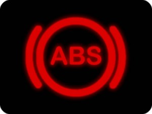 Anti-lock braking system (ABS) dashboard warning light