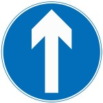 Ahead only road sign