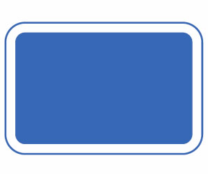 Blue rectangle road signs