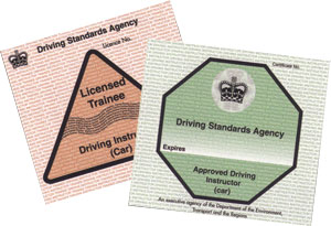 Driving instructors licence