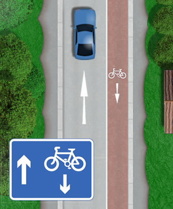 Contraflow cycle lanes