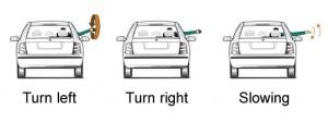 Driving arm signals
