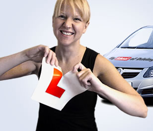 Girl passing her driving test