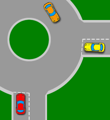 When to move off at a roundabout
