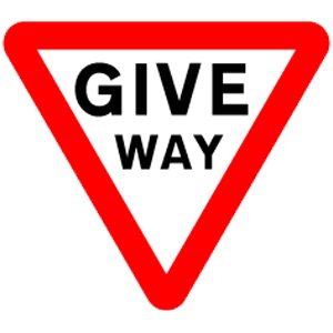 Give Way road sign