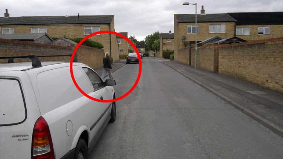Driving theory test developing hazard