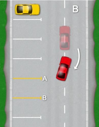 How to park a car Bay parking diagram B