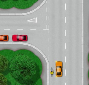 Potential accidents that can happen on a left turn