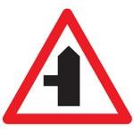 Left turn junction ahead warning sign