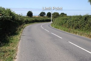 Limit point is the furthest point that can be seen of the road ahead