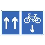 Mandatory contraflow cycle lane sign