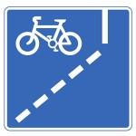 Mandatory cycle lane road sign