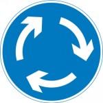 UK mini roundabout sign