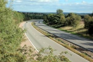 Two lane motorway
