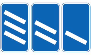 Motorway exit 300 yard countdown markers