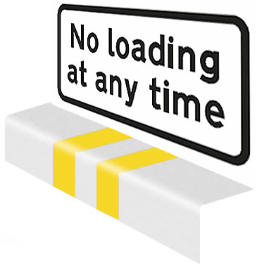 No loading at any time sign