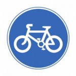 Route for pedal cycles only sign.