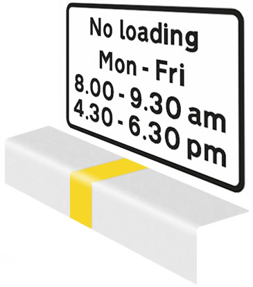 Loading is prohibited between times shown on the sign