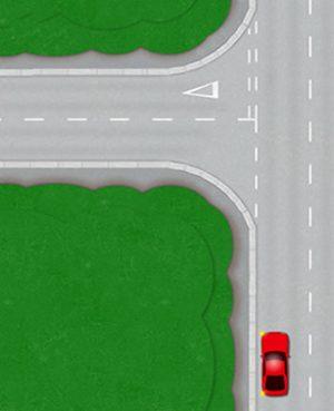 Reverse around a corner - Park on the left
