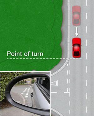 Reverse around a corner - Point of turn