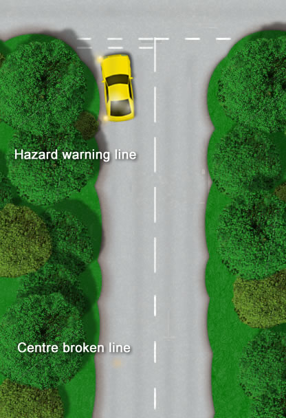 Hazard warning line