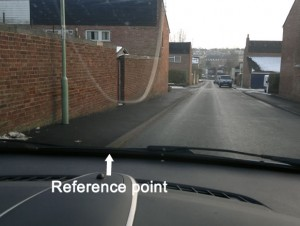 Kerb reference points to use whilst parking up