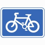 Cycle route is  recommended for cyclists road sign